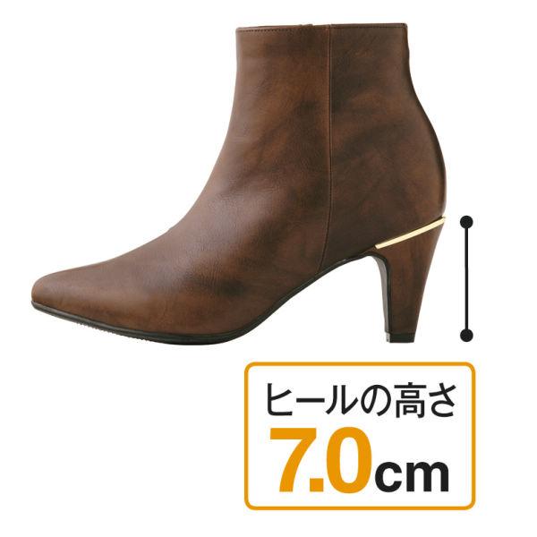 fd1df3d76417 レディースゴールドパーツ付ショート丈ブーツ | 【ヒラキ】激安靴の通販 ...